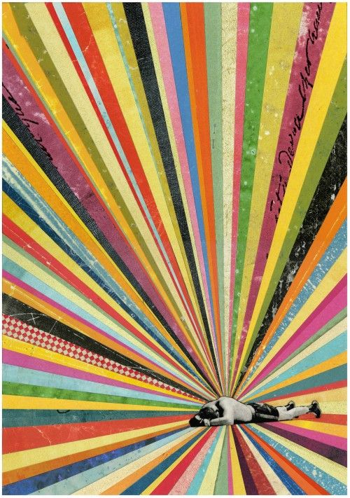 inches, martin o'neil    Collage / Rainbow / vintage photograph / Speaker…
