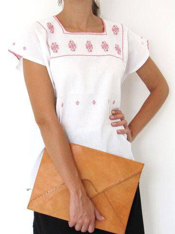 Chenal Blouse | Pink Embroidery | Chiapas Bazaar | Handmade Mexican Blouses, Accessories & Home Decor from Rural Artisans