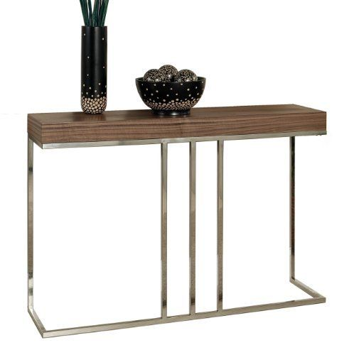 Abbyson Living Harbor Walnut Sofa Table by Abbyson Living. $419.00. Modern Euro-Design. Measures 47 in. W by 12 in. D by 31.5 in. H. Furniture features a walnut finish with unique contemporary design. Living room furniture boasts solid metal construction. For over two generations the Abbyson family name has been synonymous with comfortable elegance, creative inspiration and a passionate commitment to excellence. Time and again Abbyson has honored the promise of its name by contin...