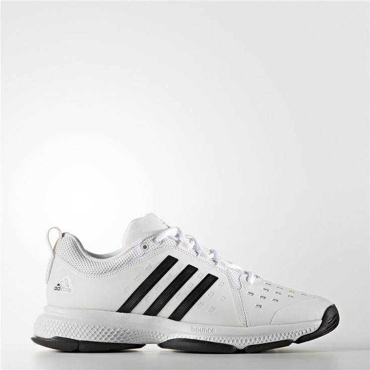 Adidas Barricade Classic Bounce Shoes (Running White Ftw / Black / Running  White)