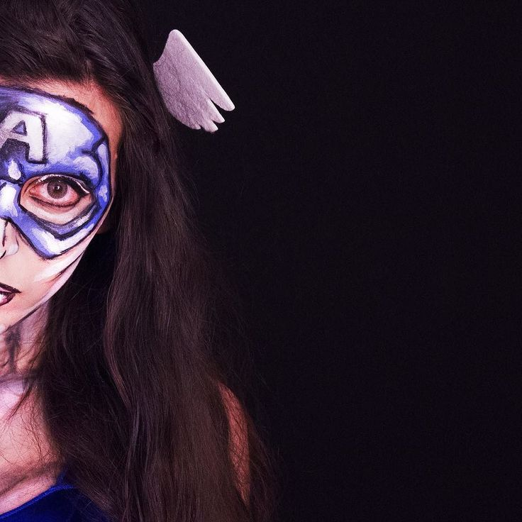 A different way to dress up as #captainAmerica . (the #makeup tutorial is available on our youtube channel.) . . . . #marvel #marvelcosplay #deguisements #disfraces #kostýmy #Maskeradkläder #maskeraddräkt #kostumer #kostume #kostueme #fancydresses #costumes #fatos #kostiumy #przebrania #verkleidungen #kostuums #verkleedkleding #funidelia