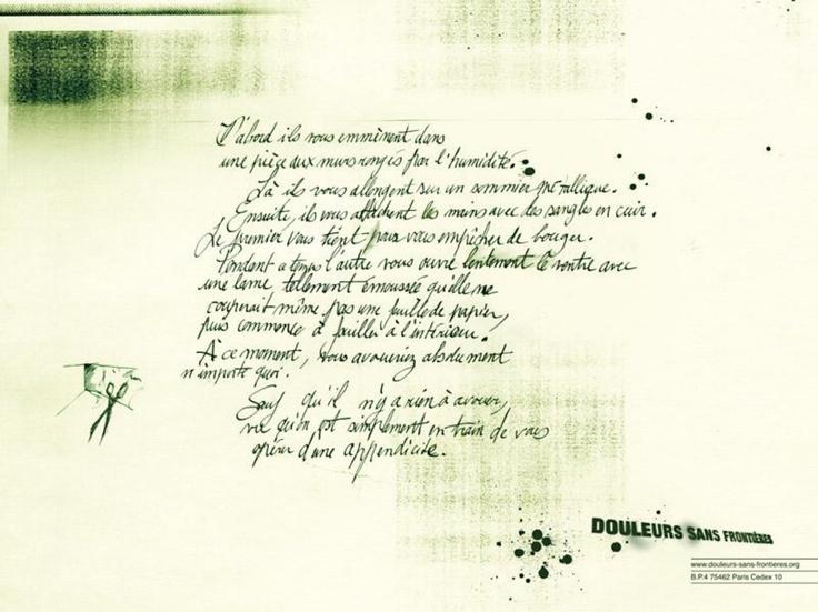 Douleurs sans frontières - La lettre