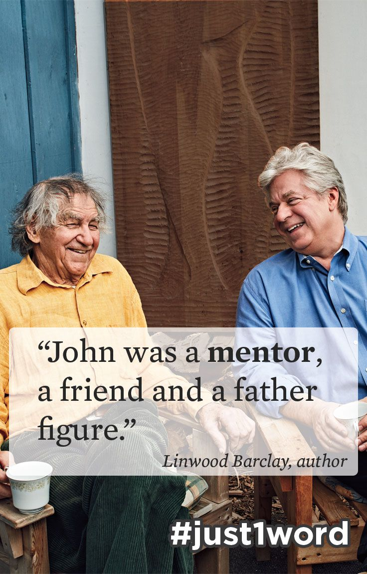 """Happy World Teachers' Day! #Writer #LinwoodBarclay recalls the high school teacher who encouraged creativity, independence and strength of character. """"I wound up getting more than a teacher. John was a mentor, a friend, and later on, a father figure to me."""" #just1word #worldteachersday #Canadian #novelist #NoTimeForGoodbye #author"""