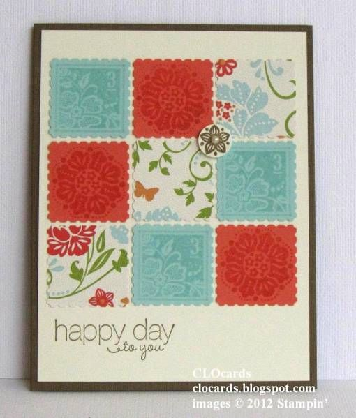 Do this with Christmas paper for a quick and easy card.