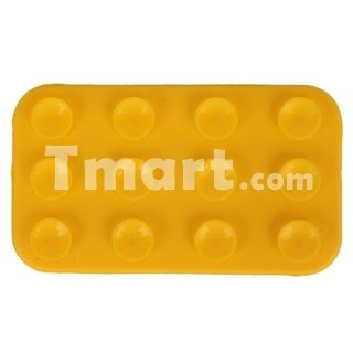 Silicone Anti-slip Mat for iPhone/iPod Yellow,$1.95