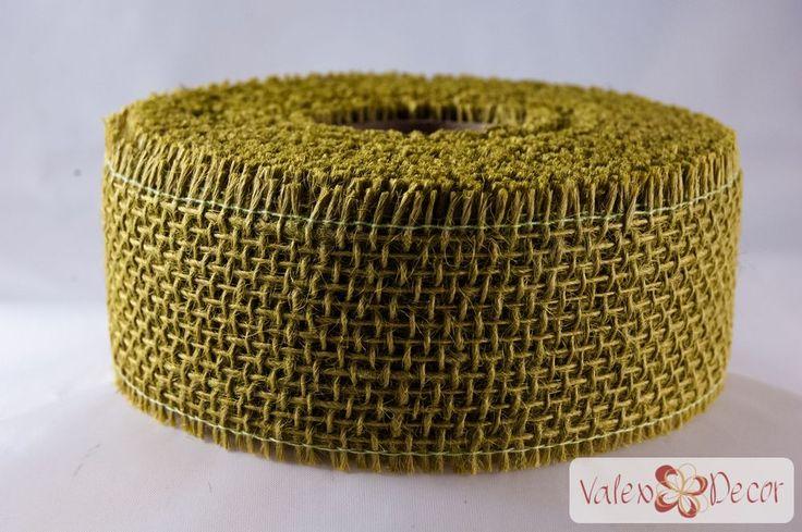 Juta szalag - Tea zöld - Valex Decor Kft. | Virágkötészeti kellékek és dekorációk webáruháza