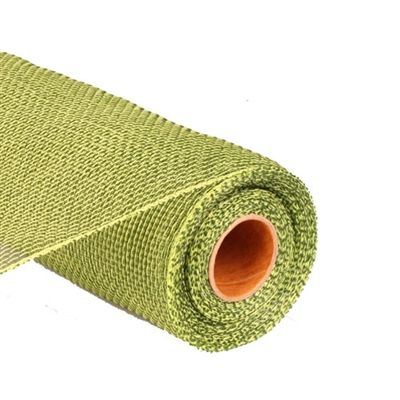 "2 Tone Moss Green / Apple Green Poly Deco Mesh Roll 21"""