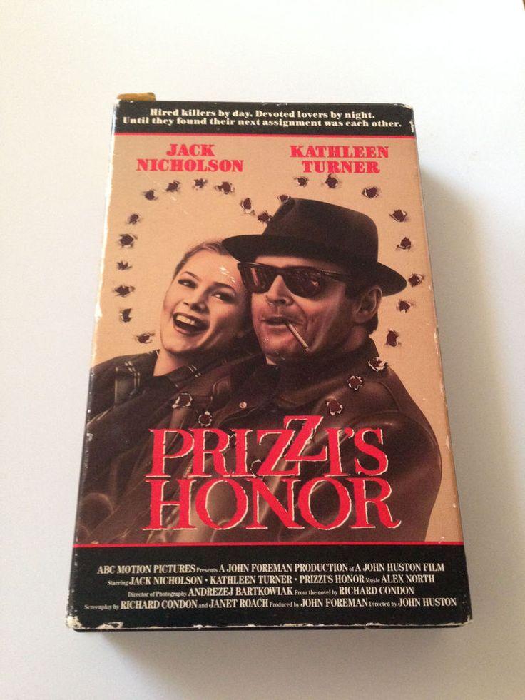 Prizzi's Honor Jack Nicholson and Kathleen Turner Betamax video Romance Drama R