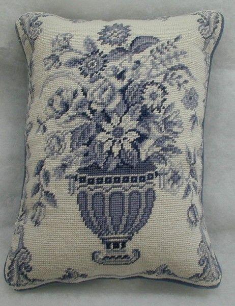 Williamsburg Furber Wedgewood Urn I Needlepoint Pillow