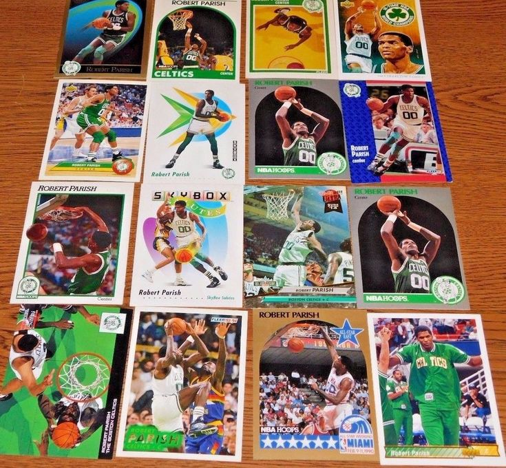 Boston Celtics  Great ROBERT PARISH Lot  of  17 Makes ** 60 + Cards** UNCIRCULAT #BostonCeltics