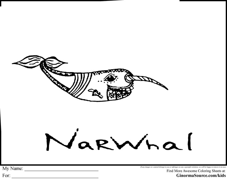 Narwhal Coloring Pages Coloring pages, Color, Deep sea