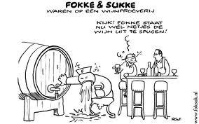 Fokke en Sukke waren op een wijnproeverij