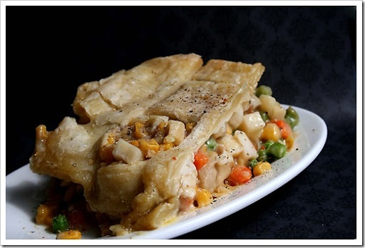 Puff Pastry Chicken Pot Pie | entrees | Pinterest
