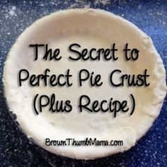 What makes a perfect pie crust? You'll never guess--but it works like magic, every time. The Secret to Perfect Pie Crust (Plus Recipe) - Brown Thumb Mama