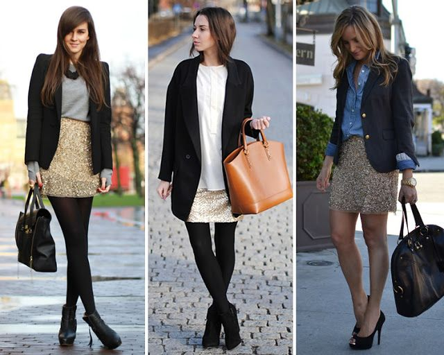 ZARA is the new black: La falda de lentejuelas doradas de Zara