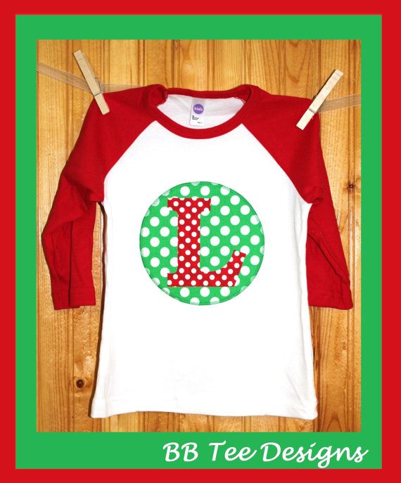 Hey, I found this really awesome Etsy listing at https://www.etsy.com/listing/162617041/personalized-kids-christmas-raglan-shirt