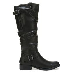 Play hard to get in the Lisette Riding Boot from White Mountain.Manmade upper in a riding boot style with a round toeGored panel in shaft for better fitZipper entrySlouchy shaft lookSmooth lining, cushioning insoleTraction outsole, 2 inch block heel