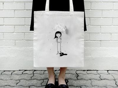 These tote bags come with a handy built-in tissue pouch, so you need never get caught sniffling in public again.