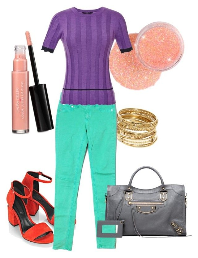 Spring purple and green by lornamailtd on Polyvore featuring Derek Lam, rag & bone/JEAN, Alexander Wang, Balenciaga, ABS by Allen Schwartz and Laura Geller