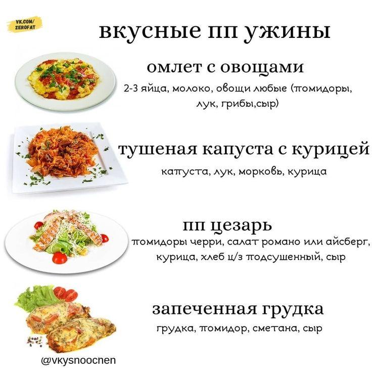 Похудеть правильное питание рецепты