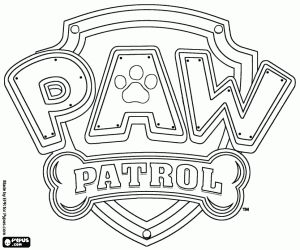 Coloring Patrol Paw Logo Sketch Coloring Page | Coloring Pages ...