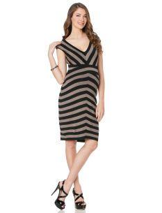 Bailey 44 Short Sleeve Striped Maternity Dress