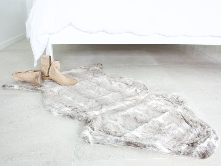 Lynx Faux Fur Rug NZ $55, I am lined with quality beige suede holding my place on your floor.
