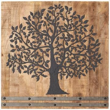 "large beautiful tree Painted on wood 36""square. a Statement piece..home decorators collection"