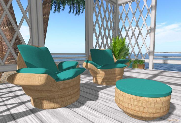 Coastal Chairs on Gaia our region on #Zandramas a virtual world