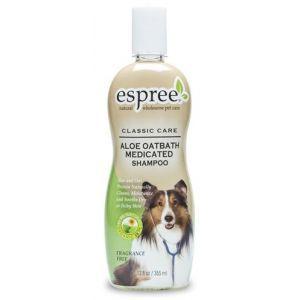 Espree Aloe Oatbath Medicated Shampoo 355 ml  Description: Espree Aloe Oatbath voor honden of katten met een rode huid Deze geurvrije shampoo van Espree is zeer goed te gebruiken bij honden of katten met een rode geirriteerde huid. De shampoo is mild en werkt verzachtend.  Price: 14.95  Meer informatie  #huisdier
