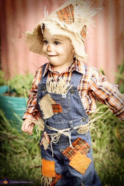Megan: This is my son Chanler. He is dressed as a scarecrow for his 2nd Halloween. I was determined to make his costume this year, as I was not impressed with...