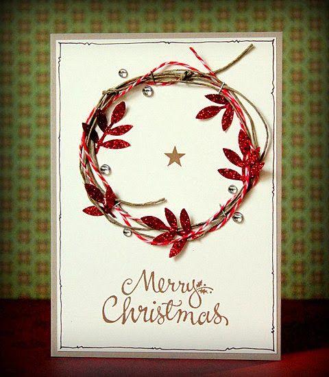 Christmas Wreath via scrapperia: Ohne viele Worte
