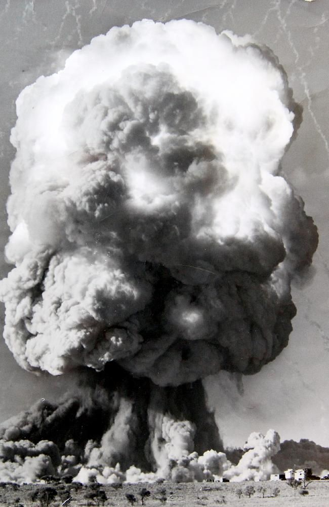 The British military detonated seven nuclear bombs in remote Maralinga, around 800km north-west of Adelaide, plus two at Emu Fields and three off the coast near Geraldton, Western Australia.