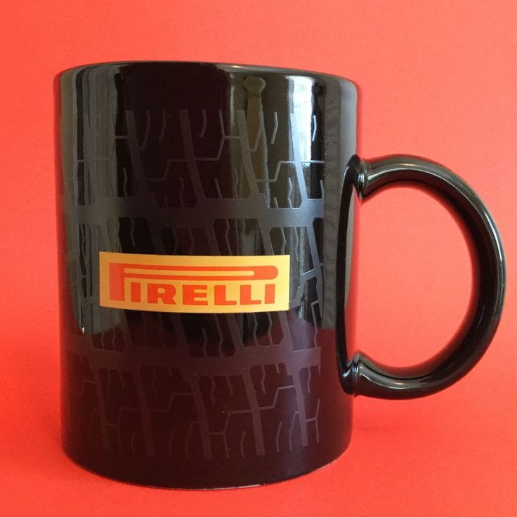 "Pirelli Tire Mug Cup Logo Tread Impression Black 3.75"" HTF | Collectibles, Transportation, Automobilia | eBay!"