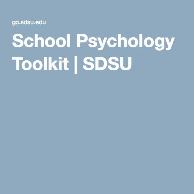 School Psychology Toolkit | SDSU
