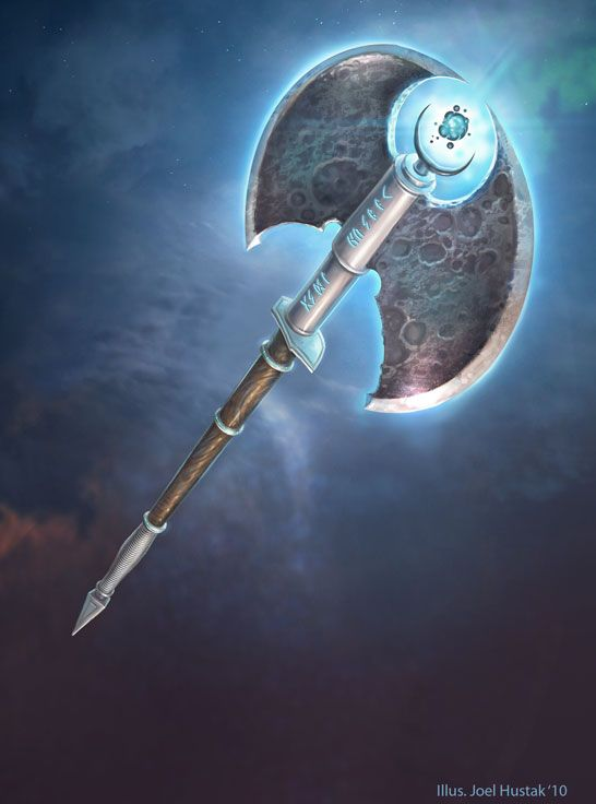 Solstice Moon Axe by joelhustak.deviantart.com on @deviantART <<< this looks like an axe Aeni would have
