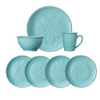 Pfaltzgraff Everyday Malibu 16-piece Dinnerware Set (Service for 4) | Overstock.com Shopping - The Best Deals on Casual Dinnerware