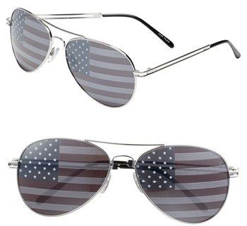 American Flag Aviator Sunglasses - $12!!!! So fun for Fourth of July!!