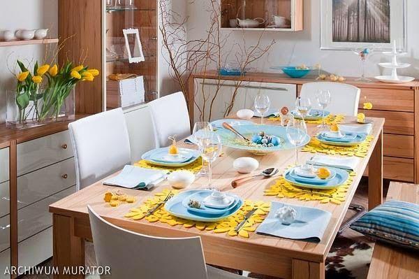 DOMdecor - Aranżacje ❋ Inspiracje ❋ Porady: Wielkanoc 2014. Modne ozdoby stołu i mieszkania