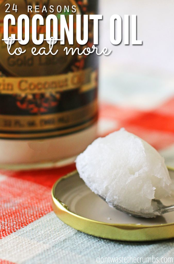Coconut oil is one of the healthiest fats out there, and can be used in a ton more ways than just cooking. Get 24 more reasons to eat more coconut oil, including skincare and lose weight!:: DontWastetheCrumbs.com