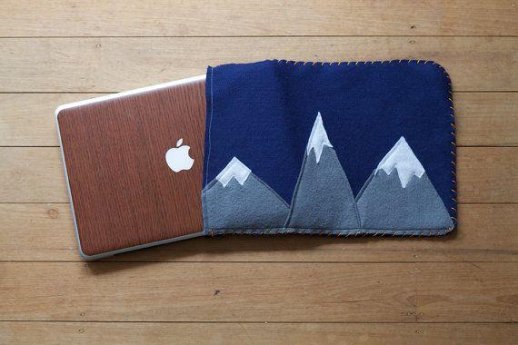 Mountain Landscape Laptop / iPad Sleeve by GloriousBandits on Etsy, $40.00 (NZD).