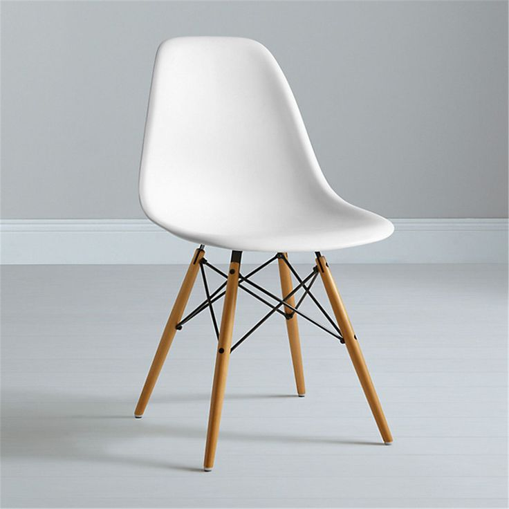 Eames DSW Replica Eiffel Dining Chair - WHITE--dining chair
