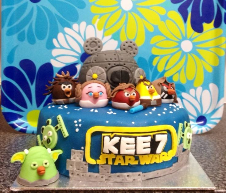 finished 2014 angry birds star wars cake