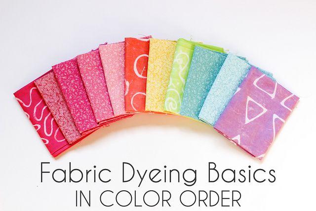 Fabric Dyeing Basics by Jeni Baker, via Flickr