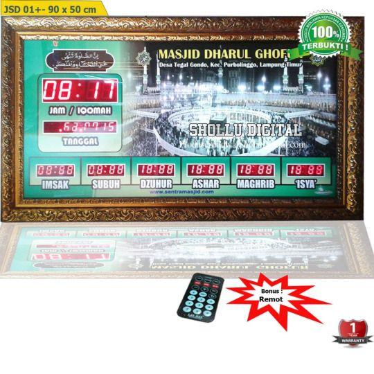 Produsen jadwal sholat digital sebagai penjual sekaligus distributor jadwal sholat digital dengan berbagai ukuran, tipe serta fitur menarik yang tentu saja terpercaya, terlengkap dan fast respond. Informasi dan pemesanan : Ratna HP : 0822 8183 3592 PIN BB : 52B1974F Anis HP : 0877 7408 0299 PIN BB : 53B583C7 Bayu HP : 0853 6837 6917 PIN BB : 5AC18563 Syella HP : 0853 2526 6462 PIN BB : 2A831354