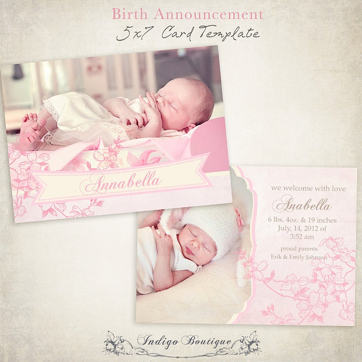 33 Best Birth Announcement Images On Pinterest | Birth