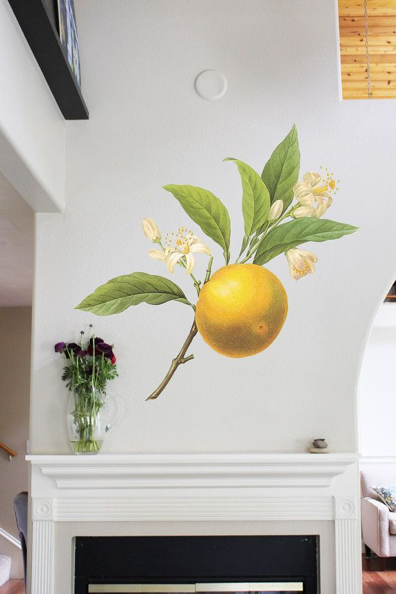 42in Orange  Flower Wall Sticker Decal by MettaPrints on Etsy, $59.95