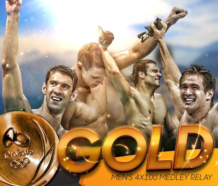 NBC Olympics ‏@NBCOlympics Aug 13 ANOTHER #GOLD and an OLYMPIC RECORD! @TeamUSA wins the Men's 4x100m Medley Relay! #USA