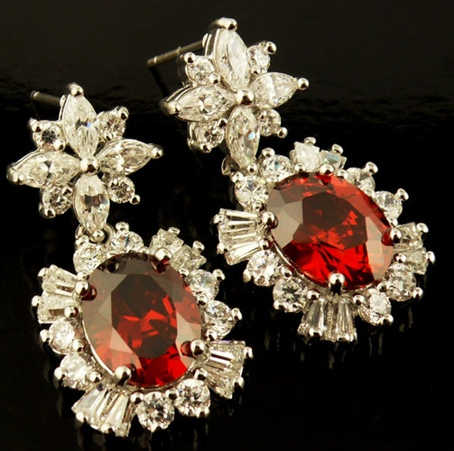 'Garnet/ Topaz Earrings 18 kt white gold filled' is going up for auction at  3pm Thu, Aug 23 with a starting bid of $10.: Beautiful Pieces, 9Am Thu, 7Pm Thu, 18,  Etc., 5Pm Wed, 3Pm Thu, Aug 23, Aug 22, Earrings