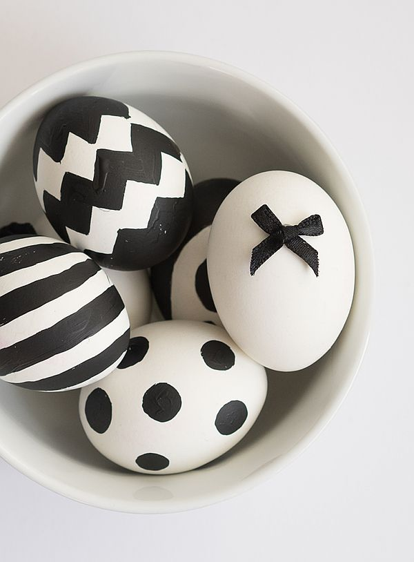 DIY - Ostereier im angesagten schwarz-weiß